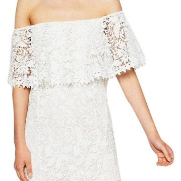 8b911db2 Zara Dresses   Off Shoulder Guipure Lace Dress White   Poshmark